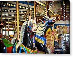 Elizabeth And Friends- Carousel Ponies Acrylic Print