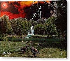 Elizabeth Park Acrylic Print by Michael Rucker