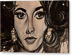 Acrylic Print featuring the painting Elizabeth by Sandro Ramani