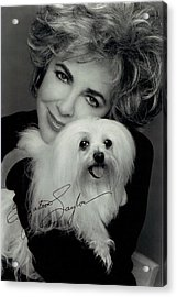 Elizabeth Taylor And Friend Acrylic Print by Studio Photo