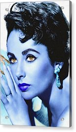 Elizabeth Taylor Acrylic Print by Art Cinema Gallery