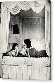 Elizabeth Taylor With Her Daughter Acrylic Print by Henry Clarke