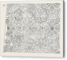 Elizabethan Ceiling At The Red Lion Inn Acrylic Print
