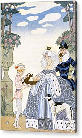 Elizabethan England Acrylic Print by Georges Barbier