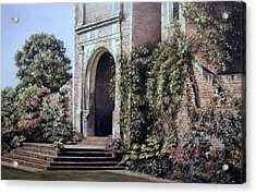 Acrylic Print featuring the painting Elizabethan Tower by Rosemary Colyer