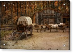 Elk Horn Livery Stable Acrylic Print by Robin-Lee Vieira