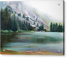 Elk Lake Mist Acrylic Print