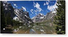 Elk Lake Panorama 1 Acrylic Print