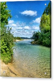 Elk River- Elk Rapids Michigan Acrylic Print by Michelle Calkins