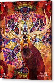 Elk Spirits In The Garden Acrylic Print