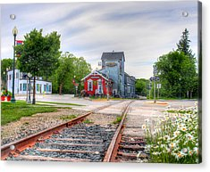 Elkhart Lake Off The Rail And Feed Mill Market Acrylic Print
