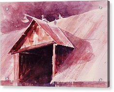 Acrylic Print featuring the painting Elkhorn Valley Barn by John  Svenson
