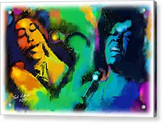Acrylic Print featuring the painting Ella And Sara by Ted Azriel
