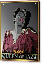 Ella Fitzgerald Jazz Singer Acrylic Print by Larry Butterworth