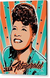 Ella Fitzgerald Pop Art Acrylic Print by Jim Zahniser