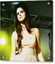 ella. #lanadelrey #teamlama #singer Acrylic Print