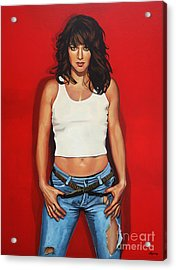 Ellen Ten Damme Painting Acrylic Print by Paul Meijering