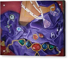 Acrylic Print featuring the painting Ellen's Bling by Ellen Canfield