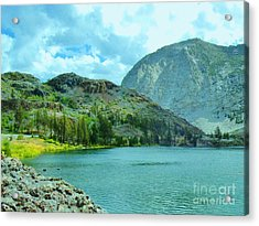 Acrylic Print featuring the photograph Ellery Lake by Marilyn Diaz