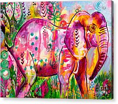 Ellie The Elephant Acrylic Print