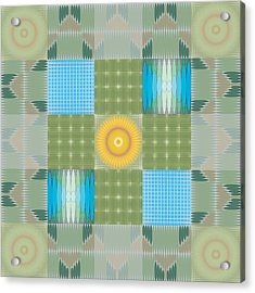 Acrylic Print featuring the digital art Ellipse Quilt 1 by Kevin McLaughlin
