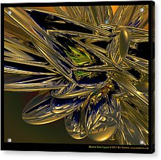 Elliptical Gold Crystals  Acrylic Print