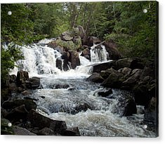 Ellis Falls In Maine Acrylic Print by Catherine Gagne