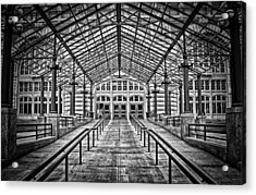 Acrylic Print featuring the photograph Ellis Island Entrance by Ben Shields
