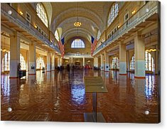 Ellis Island Registry Room Acrylic Print