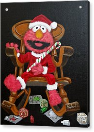 Acrylic Print featuring the painting Elmo  by Susan Roberts