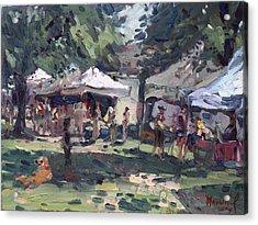 Elmwood-bidwell Farmers Market Acrylic Print