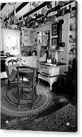 Eloise's Kitchen Bw Acrylic Print by Cindy McIntyre