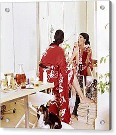Elsa Peretti Applying Make-up At Home Acrylic Print