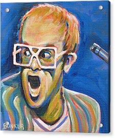 Elton John Acrylic Print by Buffalo Bonker