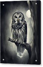 Elusive Owl Acrylic Print by Lourry Legarde