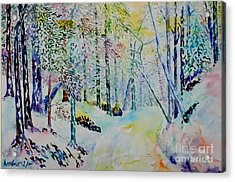Acrylic Print featuring the painting Elves Way by Alfred Motzer