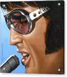 Elvis 24 1970 Acrylic Print by Rob De Vries