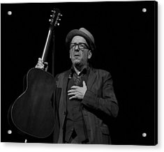 Elvis Costello Acrylic Print by Jeff Ross