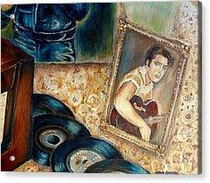 Elvis Country Boy Acrylic Print by Carole Spandau