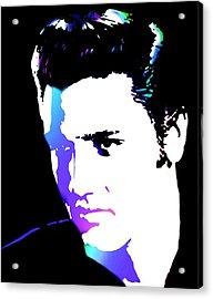Elvis Acrylic Print by Cindy Edwards