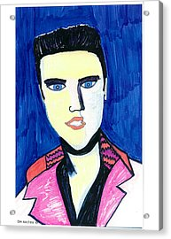 Acrylic Print featuring the painting Elvis by Don Koester