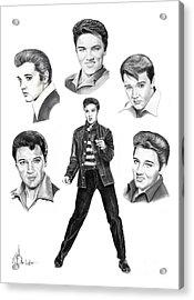 Elvis Elvis Elvis Acrylic Print by Murphy Elliott