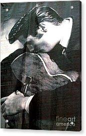 Elvis Gently Weeps Acrylic Print by David Bearden