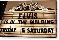 Elvis Is In Acrylic Print by David Lee Thompson