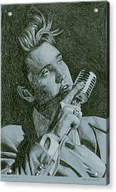 Elvis Live '56 Acrylic Print by Rob De Vries