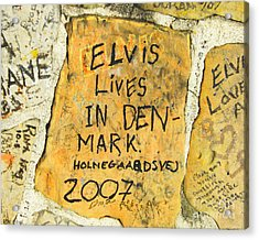 Acrylic Print featuring the photograph Elvis Lives In Denmark by Lizi Beard-Ward