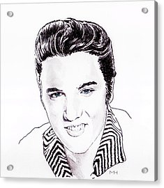 Elvis Acrylic Print by Martin Howard