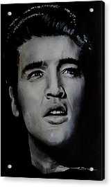 Acrylic Print featuring the painting Elvis- Mississippi Trucker by Eric Dee