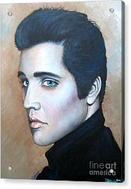 Acrylic Print featuring the painting Elvis by Patrice Torrillo