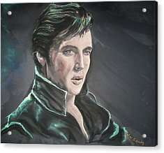 Acrylic Print featuring the mixed media Elvis by Peter Suhocke